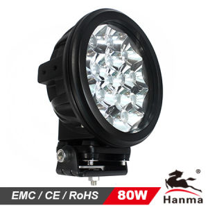 80W LED Work Light for 4X4 Offroad, Truck and Tractor and Industrial Equipment