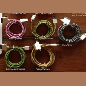 USB Braided Textile Power Cord pictures & photos