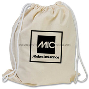 Cotton Canvas Drawstring Bag with Customer Logo pictures & photos