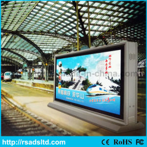 Outdoor Double-Faced Advertising Light Box Display with Scrolling