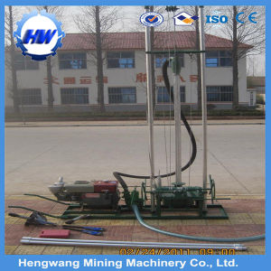 Economical Hot Exported 80-100m Portable Small Deep Water Well Drilling Rig Driven by Gas Oil pictures & photos