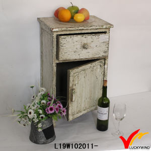 French Style Antique Wood Shabby Chic Bedside Cabinet pictures & photos