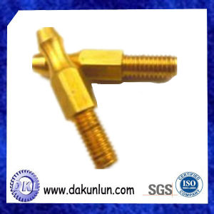 Custom Precision CNC Brass Knurled Shaft
