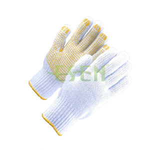 Cheap Comfortable Household Cotton Gloves PVC DOT pictures & photos