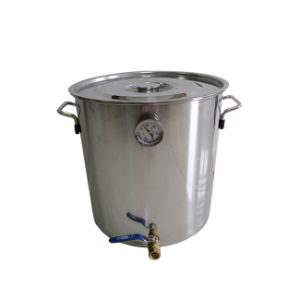 30L/8gallon Stainless Steel Beer Brewing Barrel Home Beer Fermenting Kettle pictures & photos
