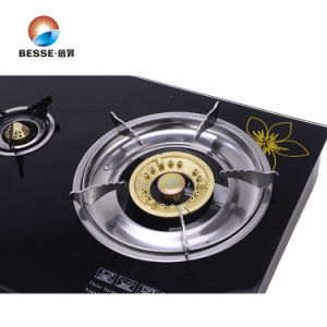 Tempered Glass Steel Gas Stove, Triple Burner, Porttable Gas Cooker pictures & photos