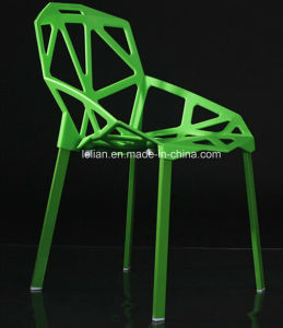 Painted Metal Legs with Plastic Seating Stack Chair for Garden Furniture  (LL-0042)