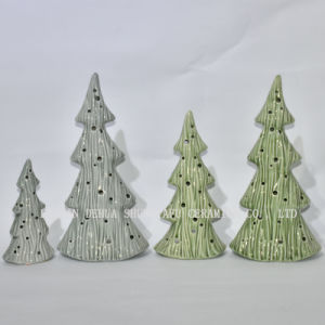Christmas Tree Ceramic Candle Stand For Home Leisure Hall Decoration
