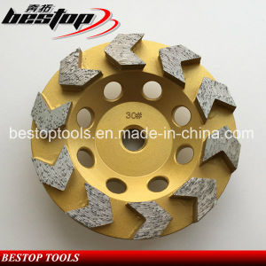 10 Arrow Segment Cup Grinding Wheel for Concrete pictures & photos