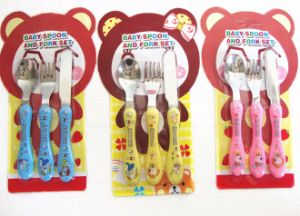 Stainless Steel Children Cutlery Set with Lovely Design