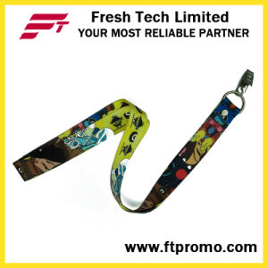 Cartoon Style Promotional Polyester Lanyard with Logo Design pictures & photos