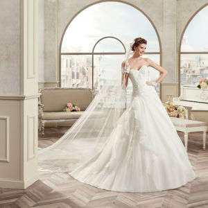 Custom Made Sweethart A-Line Organza Appliques Wedding Dress 2017