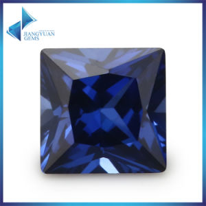Bulk Sell Price 1mm-10mm 34# Blue Square Synthetic Corundum Ruby Loose Gemstone pictures & photos