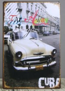 Stock 20*30cm Tin Sign with Old Feeling pictures & photos
