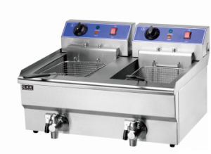 Commercial High Quality 2-Tank 2-Basket Electric Fryer 8L pictures & photos