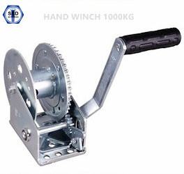1000kg Hand Winch Zinc Plated