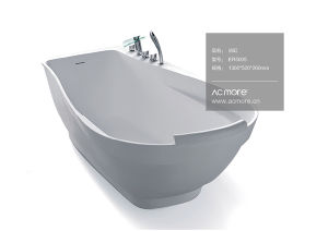 Modern Design Solid Surface Freestanding Bathroom Bathtub pictures & photos