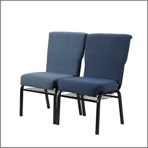 Beautiful Leadcom Fabric Padded Stackable Church Chairs For Sale (LS 522)