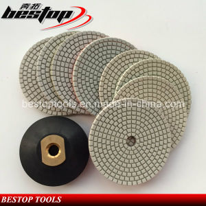 5 Inch D125mm Wet Polishing Pads for Granite Countertop pictures & photos