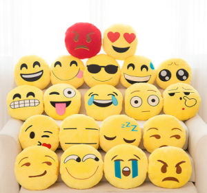 Yellow Funny Emoji Plush Cushions and Pillow Toy
