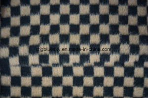 Black & Brown Check Wool Fabric