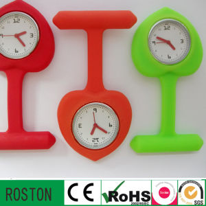 Heart-Shaped Silicone Nurse Watch with Making Logo