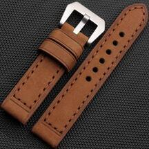 Handmade Band Rust Brown Suede Leather Mens Watch Strap