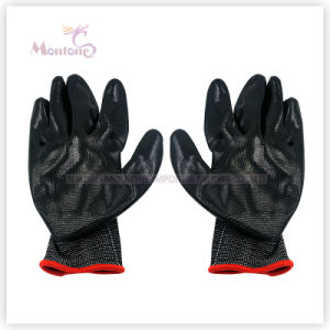 13gauge Palm Nitrile Dipped Polyester Working Safety Gloves, Garden Gloves pictures & photos