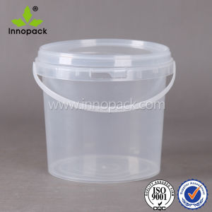Clear Food Grade PP Plastic Bucket 2 Liter with Handle and Lid pictures & photos