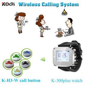Restaurant Wireless Customer Call Pager System with Wrist Watch and Call Button Hot Sales in Restaurant pictures & photos