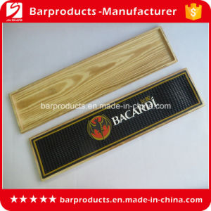 Black Wooden Box PVC Branded Bar Mats