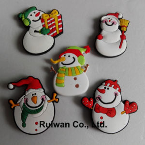 Wholesale Xmas Snowman Fridge Magnet for Christmas Decoration pictures & photos