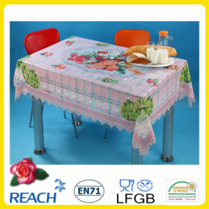 PVC Printed Independent Design Transparent Tablecloths pictures & photos