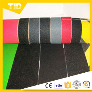 Yellow and Black Stripe Anti-Slip Grit Tape pictures & photos