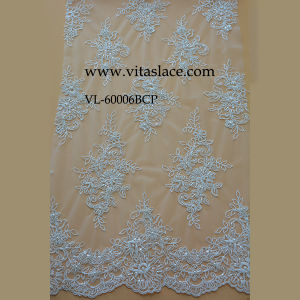 White Rayon Lace Fabric for Home Textile Vl-60006bc