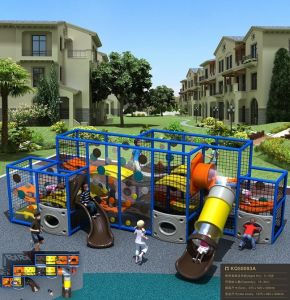 Kaiqi Exciting Children′s Adventure Playground with Slide (KQ50093A) pictures & photos