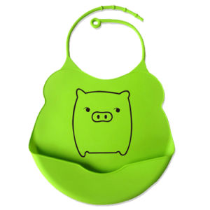 High Quality Waterproof Silicone Soft Food Catcher Bibs for Custom Printing Logo pictures & photos