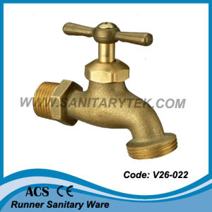 American Type Sand-Casting Brass Bibcock (V26-022) pictures & photos