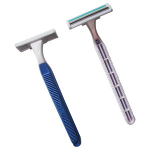 Twin Blade Stainless Steel Disposable Razor (KD-2007L) pictures & photos