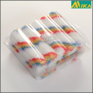 "10PCS 4"" Rainbow Strips Acrylic Mini Paint Roller Set"