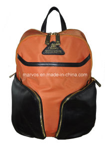 Latest Nylon with Leather Backpack (BS13614)