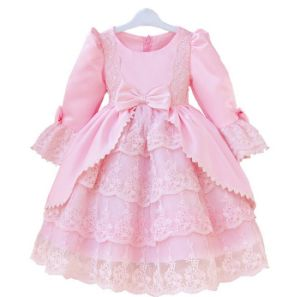 Kd1061 High Quality Girls Dresses Fantastic Lace Little Princess Dresses Long Sleeve Tutu Dresses Costume Dress for Retail pictures & photos