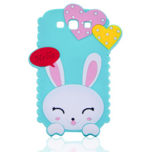Heart Cartoon Rabbit DOT Silicone Mobile Phone Case for Huawei P8 P9 P8lite (XSDW-015)