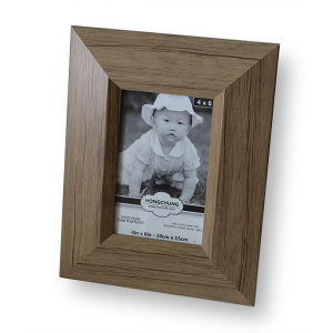 Antique Natural Wood Pattern PS Photo Frame for Home Decoration pictures & photos