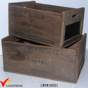 Rual Area Recycled Fir Antique Wood Crate Box With Blackboard