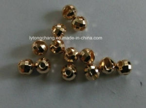 Dia3.5mm Slotted Tungsten Diamond Faceted Bead in Gold Color pictures & photos
