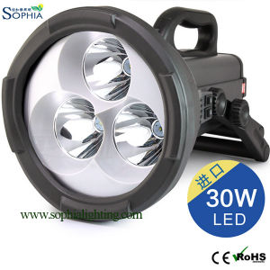 30W Rechargeable 30W LED Search Light, High Power LED Flash Light