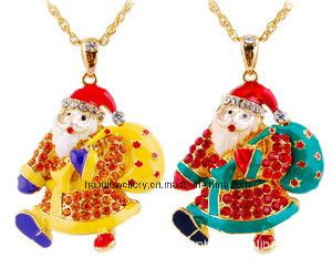 Christmas Jewelry/Christmas Necklace/Father Christmas (XJW13346)