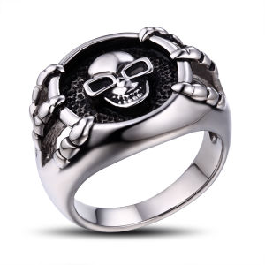 Stainless Steel Men′s Jewelry Skull Ring pictures & photos