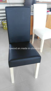 Black Pu Leather Seat Dining Chair